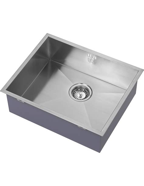 Single Bowl 500mm Kitchen Sink, Inset Or Undermount Square