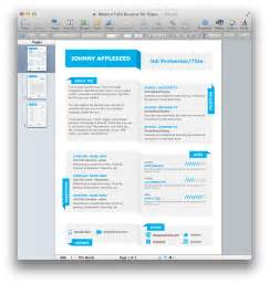 Ms Word Resume Template Free Modern Fold Resume Template For Pages