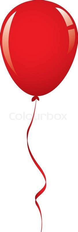 vektor roten ballon band vektorgrafik colourbox