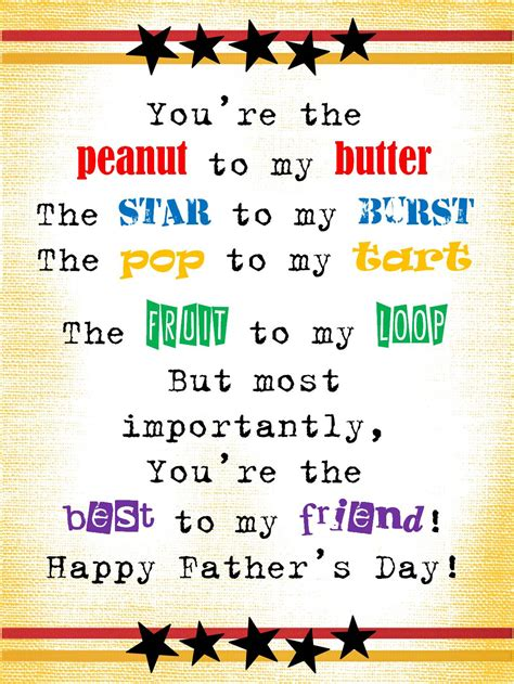 strong armor s day poem you re the peanut to my 235 | Father's Day You're the peanut to my butter 2