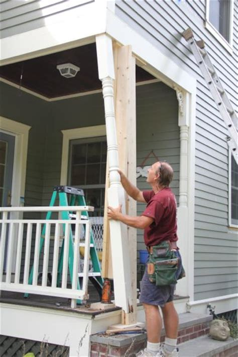 How To Replace Front Porch Columns by Repair A Rotted Porch Column A Concord Carpenter