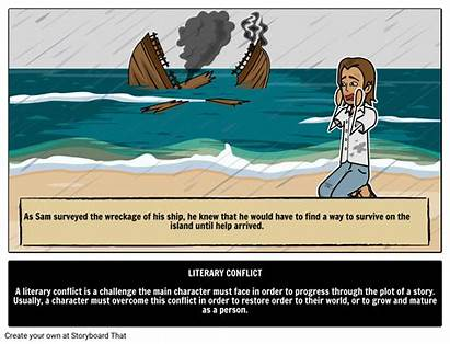 Conflict Literary Terms Illustrated Core Guide