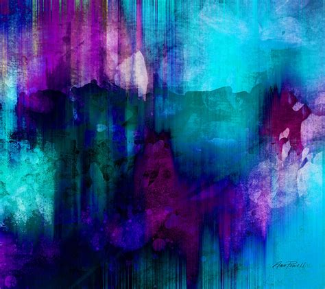 Abstract Black And Blue Painting by Blue Abstract Painting By Powell