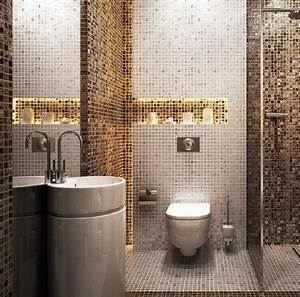 Beige Fliesen Bad : mosaik fliesen badezimmer waschkonsole indirekte ~ Watch28wear.com Haus und Dekorationen