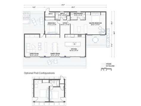 homes glidehouse prefab home floor plan