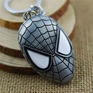 Spiderman Silver Face Mask Keyring - Kool keyringsKool ...