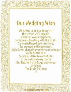 wedding gift honeymoon fund poems gift ftempo With wedding invitation poem inserts
