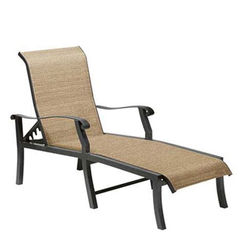 woodard 42h470 cortland sling adjustable chaise lounge