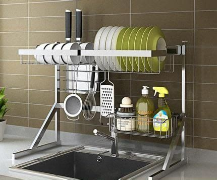 stainless steel kitchen drying rack cool storage ideas