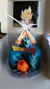 easy dragon ball z cake made with buttercream icing and