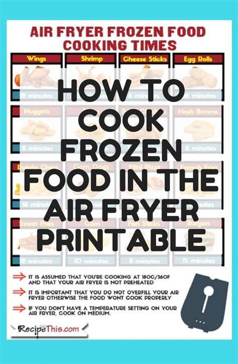 fryer frozen air food printable cook beginners