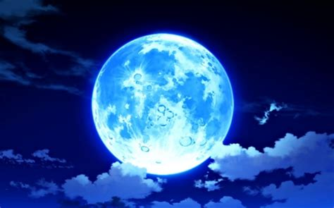 Moon Anime Wallpaper - blue moon abstract background wallpapers on