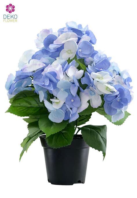 blau blühende pflanze k 252 nstliche hortensien pflanze blau 36 cm