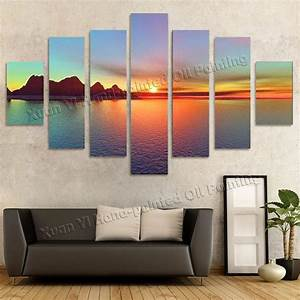 2017 Oil Painting Wall Decor Art Canvas 7 Panels Beautiful