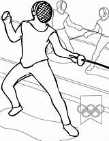 Fencing Coloring Olympic Games Coloringsky Pages Dibujo Olympics από αποθηκεύτηκε αγώνες sketch template