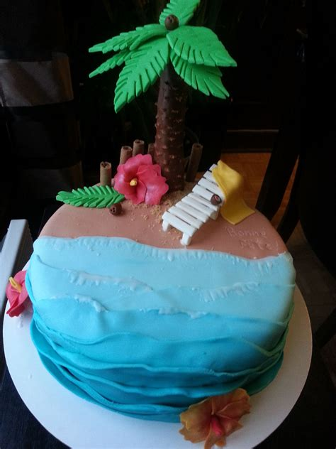 gateau plagesud vacance beach cake creation loulou