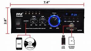 New Pyle Pcau35a Mini 2x75 Watt Stereo Power Amplifier Usb