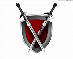 Swords and shield icon | PSDGraphics