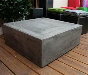 Table Basse En Beton : table basse beton cube table basse design table basse b ton ~ Teatrodelosmanantiales.com Idées de Décoration