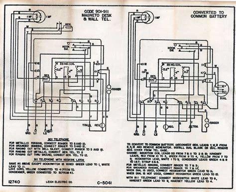 Antique Phone Wiring Diagram by Leich Phone