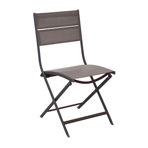chaise pliante aluminium textilene chaise win châssis aluminium epoxy cafe toile textilene cafe pliante oceo