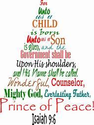 bible scripture isaiah 9 6 christmas tree - Best Christmas Bible Verses