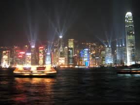 香港:夜空がキャンパス!シンフォニーオブライツ|香港壁紙