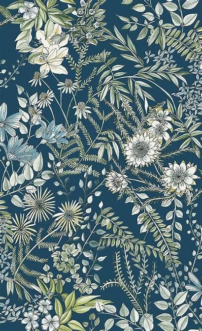 Navy Floral Prints Street Folklore Brewster Bloom