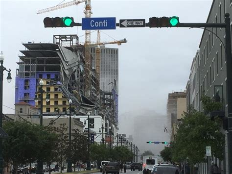 breaking hard rock hotel  downtown  orleans collapses