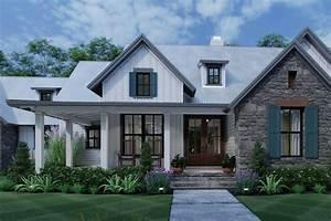 Modern, Farmhouse, Plan, 1, 988, Square, Feet, 3, Bedrooms, 2, 5