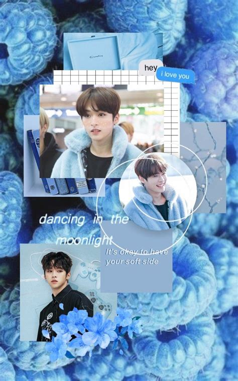 Please contact us if you want to publish a stray kids aesthetic wallpaper on our site. stray kids minho blue aesthetic lockscreen wallpaper edit by minsungsky | Gadis ulzzang