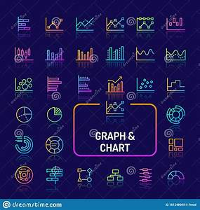 Graphs  Diagrams  U0026 Charts Gradient Line Icon Set Stock