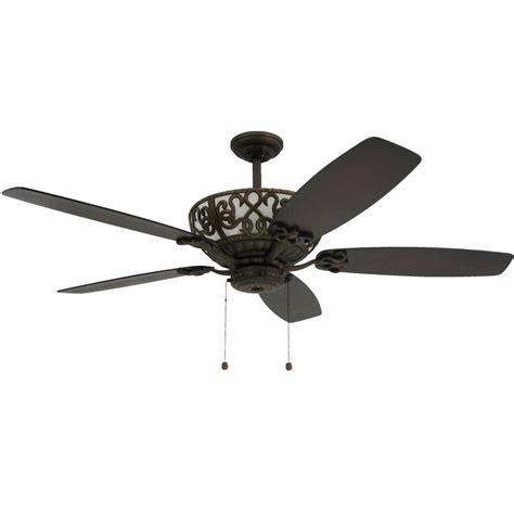 rubbed bronze ceiling fan light kit troposair excalibur 60 in rubbed bronze uplight ceiling