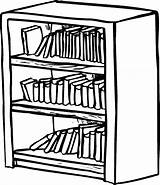Bookshelf Bookcase Coloring Shelf Drawing Clipart Pages Shelves Draw Library Drawer Drawings Sheet Drawn Easy Getdrawings Tocolor Button Through Shelving sketch template