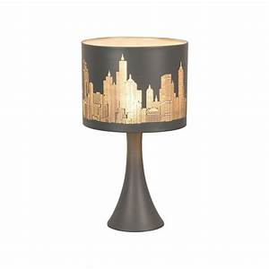 Lampe De Chevet Garçon : lampe chevet tactile new york gris mat en vente sur lampe ~ Dailycaller-alerts.com Idées de Décoration