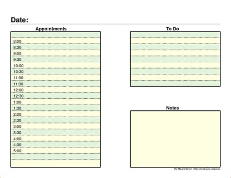 daily schedule template  teknoswitch