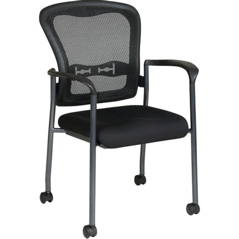 office progrid guest chair with wheels titanium