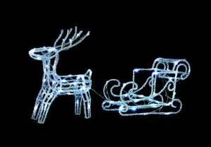 uk gardens led twinkle reindeer and sleigh decoration outdoor indoor uk gardens co uk