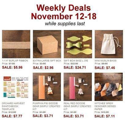 bonnierodriguezstampinupnet stampin  weekly deals