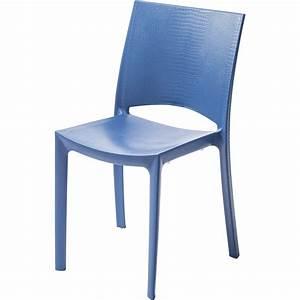 Chaise De Jardin En Rsine Cocco Bleu Leroy Merlin