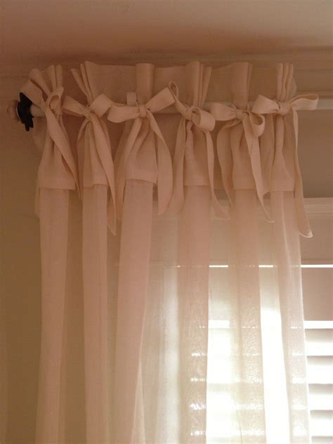 How To Make Nosew Curtain Panels With Bows And Ruffles