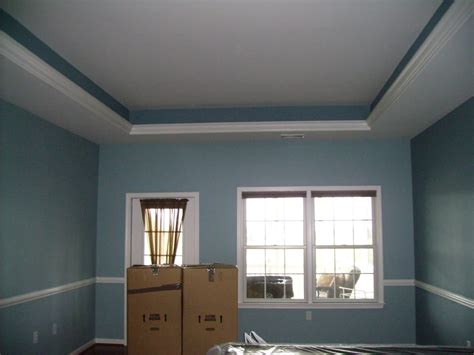 master bedroom with tray ceiling same color as walls yelp