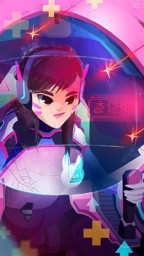 wallpaper dva overwatch artwork  games