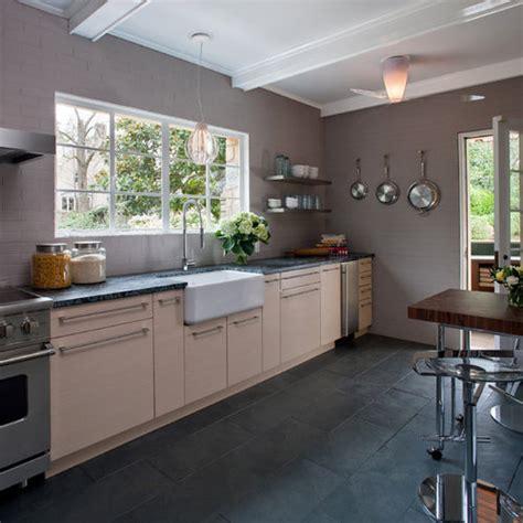 slate floor kitchen houzz