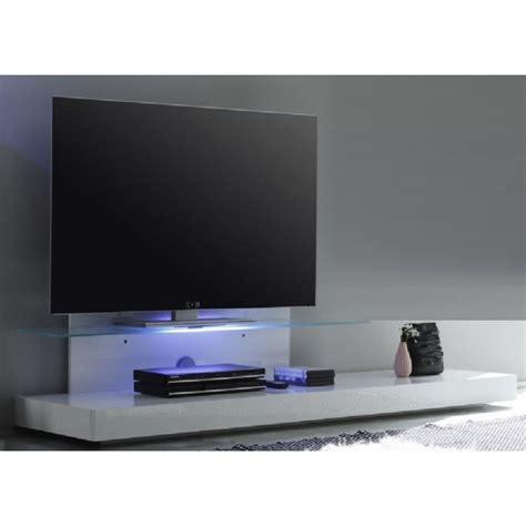 luminaire pour chambre adulte base télé avec éclairage led et tablette en verre design