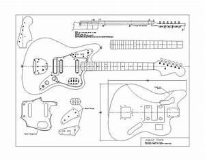 drawn guitar fender jaguar pencil and in color drawn With fender jazzmaster body template