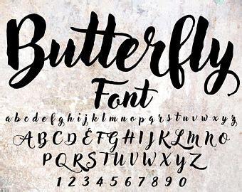 cursive font etsy