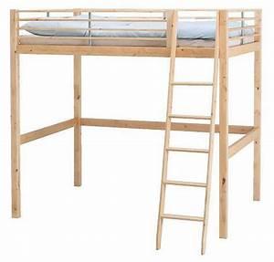 Lit 2 Places Ikea : mezzanine ikea 2 places bois table de lit ~ Teatrodelosmanantiales.com Idées de Décoration