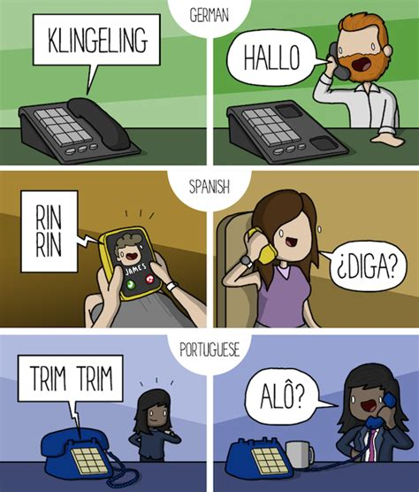 how to answer phone comic how to answer the phone in 10 different languages