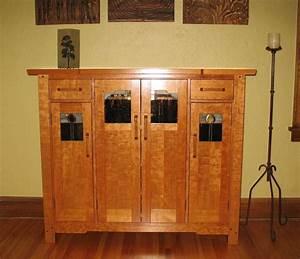 Custom Made Greene Greene Liquor Cabinet By Timeless